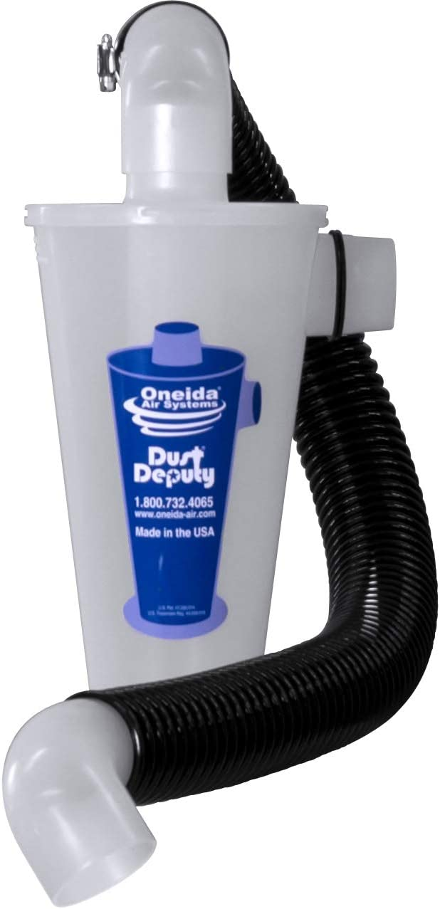 The Dust Deputy DIY Standalone Anti-Static Cyclone Separator (The Dust Deputy DIY Plus)