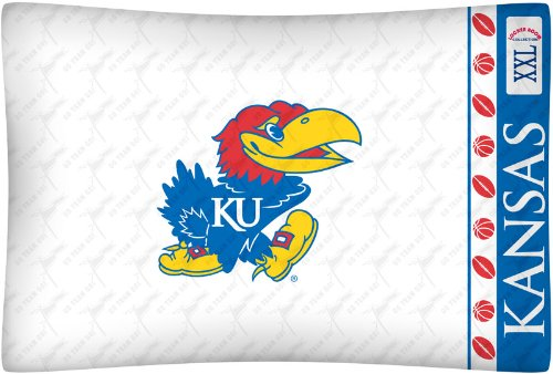NCAA Kansas Jayhawks Micro Fiber Pillow Case Logo
