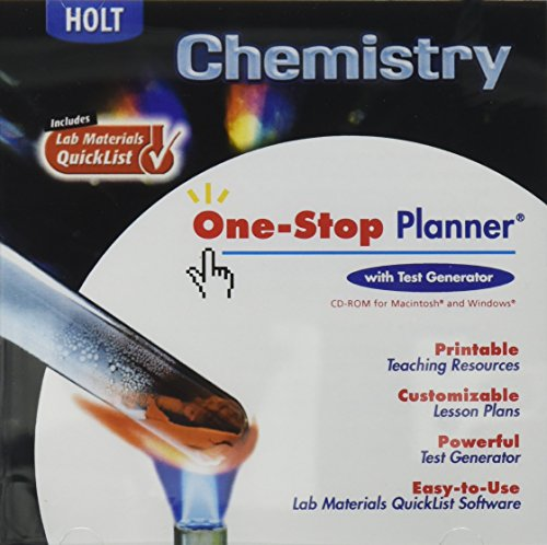 Holt Chemistry: One-Stop Planner CD-ROM with Test Generator (One Stop Planner Cd Rom With Test Generator)
