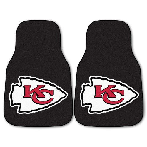 (FANMATS NFL Kansas City Chiefs Nylon Face Carpet Car Mat)