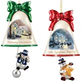 Christmas Ornaments: Thomas Kinkade Ringing In The Holidays Ornament Set: Set 5 by The Bradford Exchange