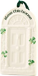 Belleek 2880 House Blessing Ornament, 2.2-Inch, White