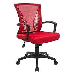 Furmax Office Chair Mid Back Swivel Lumb...