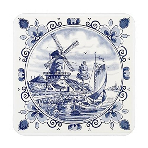Cute Vintage Dutch Windmill Sailboat Del - Delft Blue Windmill Shopping Results