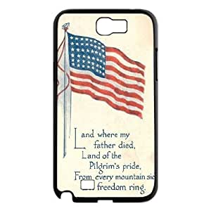 American Flag Custom Cover Case for Samsung Galaxy Note 2 N7100,diy phone case ygtg-774301
