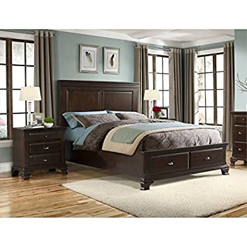 shelby 5 piece queen bedroom set elements cherry cheap 3 arts and crafts black size