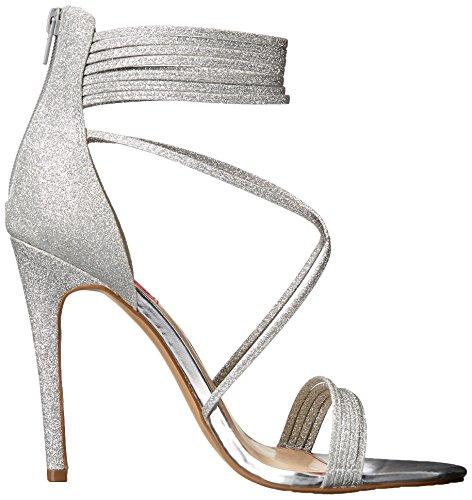Johnson Betsey by Women Glitter Blue Kora Sandal Silver Dress FvAqZwx