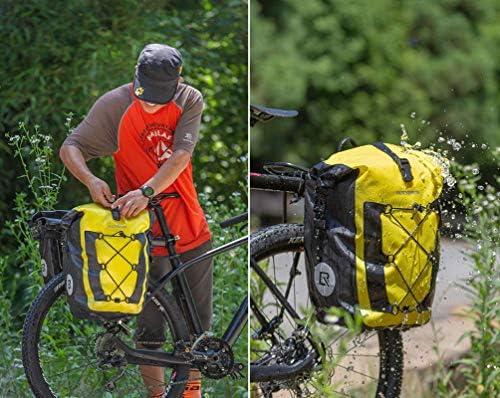 ROCKBROS Alforjas Trasera para Portaequipajes de Bicicleta MTB Carretera Impermeable Capacidad 20-27 litros de Asiento Ciclismo: Amazon.es: Deportes y aire libre
