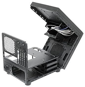 Chieftec CI-01B-OP Carcasa de Ordenador Cubo Negro - Caja de Ordenador (Cubo, PC, SECC, Negro, Micro ATX, 15 cm)