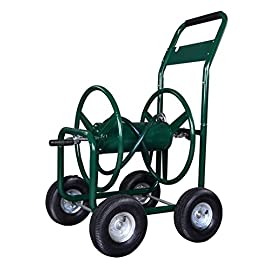 yardworks 4 wheel hose cart