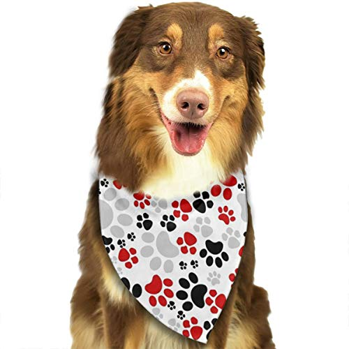 OURFASHION Paw Crazy Paws Bandana Triangle Bibs Scarfs Accessories for Pet Cats and Puppies ()