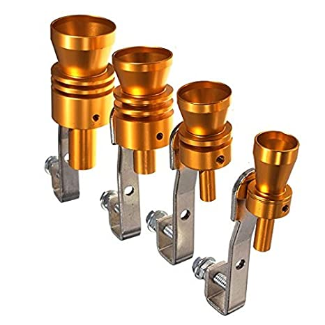 GOZAR Gold Exhaust Fake Turbo Whistle Pipe Sound Muffler Blow Off Valve Bov-L