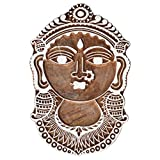 Indian Woman With Jewelry Decorated WOODEN BLOCK STAMPS HAND CARVED PRINTING BLOCK TEXTILE PRINTING