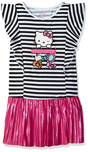 Hello Kitty Toddler Girls Embellished Tutu Dress, Pink Stripe, 2T - Hello Kitty Pink Tutu