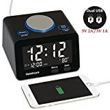 digital alarm clock usb - Alarm Clock, USB Alarm Clock, Digital Alarm Clock Radio with USB Charger, FM Radio, Thermometer and LCD screen for Bedside, Bedroom, Kitchen, Hotel, Table, Desk