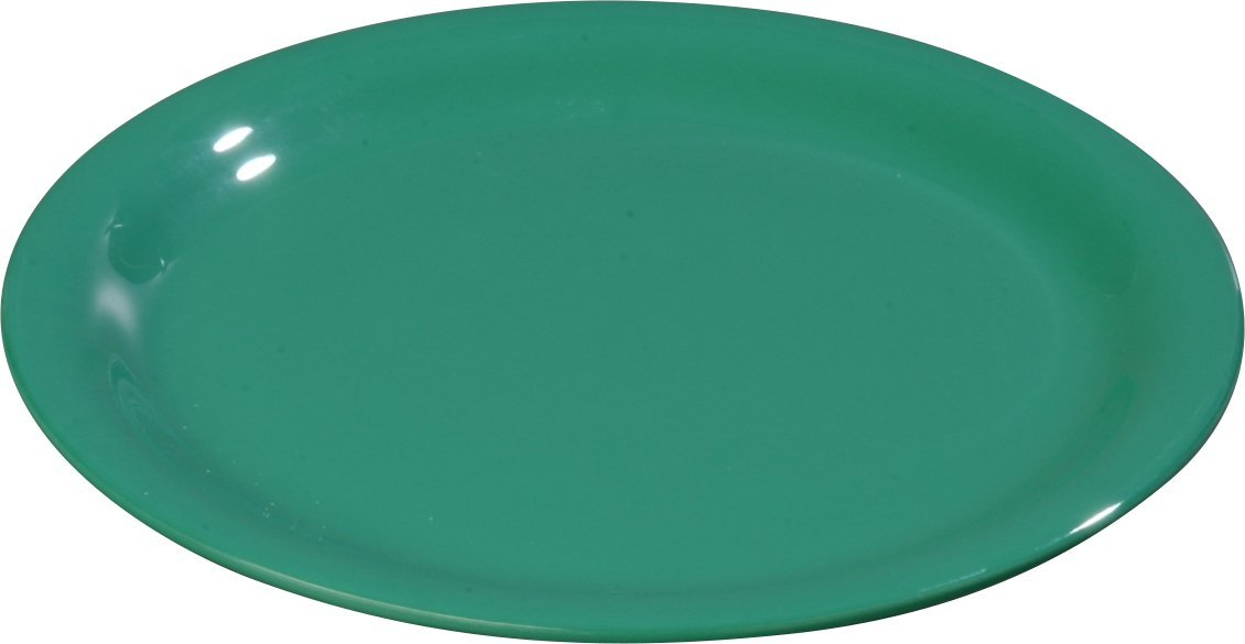 Carlisle 3300809 Sierrus Narrow Rim Melamine Pie Plates, 6.5'', Meadow Green (Pack of 48)