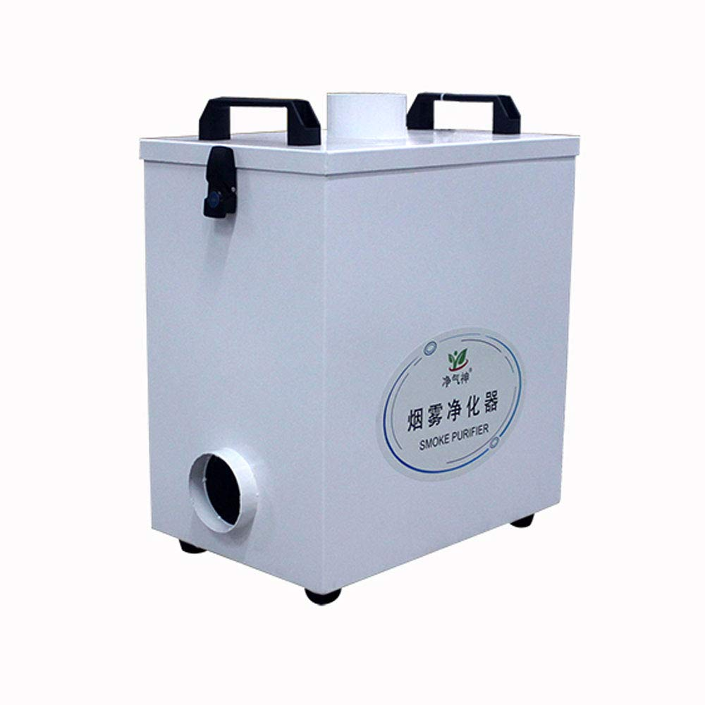 Pure Air Fume Extractor Smoke Purifier 220V Four Stage Filtration for Co2 Laser Engraving Cutting Machine by TOAUTO