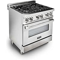 Z Line E30-40 30 4.0 cu. ft. 4 Gas Burner/Electric Oven Range, Stainless Steel