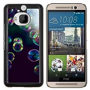 Dragon Case - FOR HTC One M9+ / M9 PLUS - bubbles yellow purple nature black - Caja protectora de pl??stico duro de la cubierta Dise?¡Ào Slim Fit