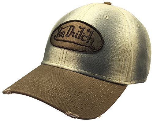 Von Dutch VDHT136 Dad Distressed Baseball Cap Vintage Style with Different Colorways (Creamy)