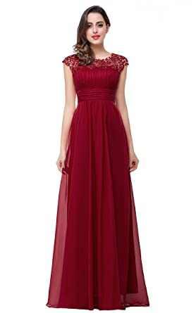 Kurzarme Lang Chiffon Elegant Damen Abendkleider Babyonlinedress® vn0ON8wm