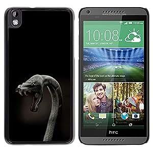 LECELL -- Funda protectora / Cubierta / Piel For HTC DESIRE 816 -- Cobra Snake Close Up --