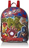 Cheap Marvel Boys' Avengers Mini Backpack with Hulk, Ironman and Captain, Black/Blue/Red