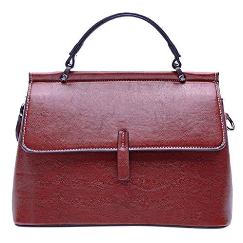 (Fitfulvan Bag Women's Solid Color High-End Handbag Wild Shoulder Bag Messenger Bag With Adjustable shoulder strap)