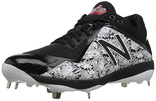 New Balance Men's L4040v4 Metal Baseball Shoe, Black Camo, 10 D US