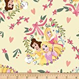Springs Textiles Disney Princess Friends Knits Multi, Fabric by the Yard