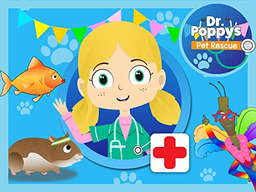 Lucy The Goldfish Visits Dr Poppy's Pet Rescue: Animals For Kids