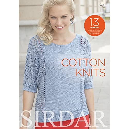 2e652761cddf3 Sirdar Knitting Pattern Book Cotton Knits 498 4 Ply