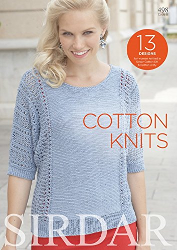 Sirdar Knitting Pattern Book Cotton Knits 498 4 Ply Dk Amazon