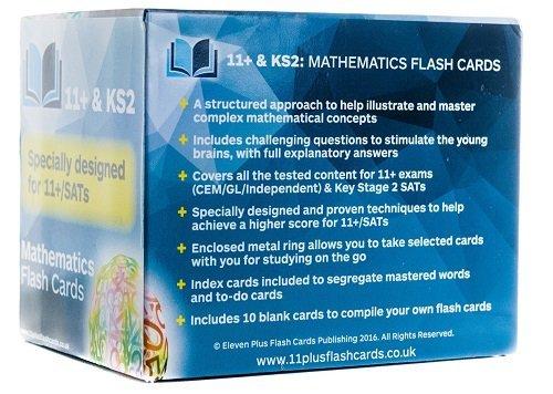 11+ & KS2: Mathematics Flash Cards: Amazon.co.uk: Eleven Plus Flash ...