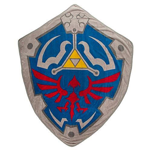 Bioworld Zelda Crest Shield Video Game Fleece Blanket from Bioworld