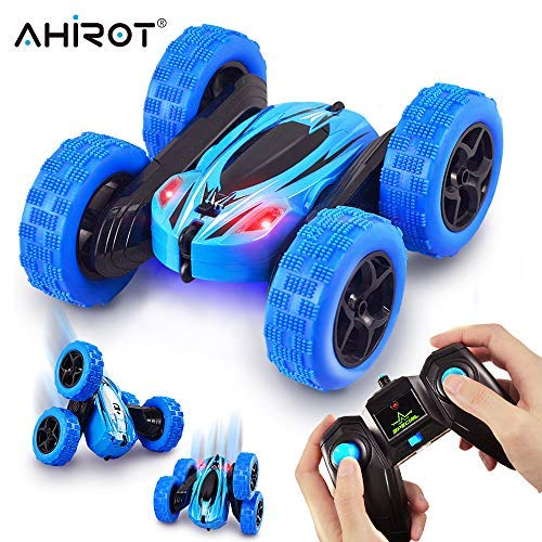 AHIROT RC Cars Remote Control Stunt Car - 2.4GHz 360 Degree Off-Road Double Sided Rotating Tumbling High Speed Rock Crawler Vehicle with Headlights for Kids / Children