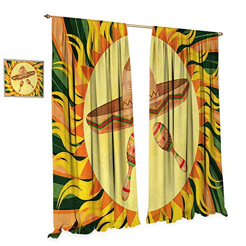 Anniutwo Mexican Patterned Drape for Glass Door Ethnic