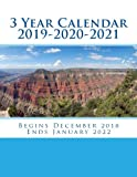 3 Year Calendar 2019-2020-2021: Stay organized with the 3-Year Calendar 2019-2020-2021. Helps with activity planning for a full 3 year period or 36 ... in December 2018 and ends January 2022.
