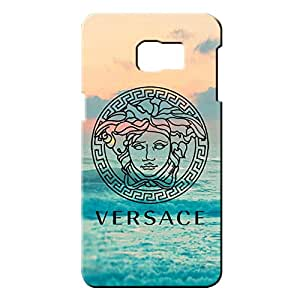 Versace Logo Phone Case for Samsung Galaxy S6 Edge Plus 3D Black Slip On Cover
