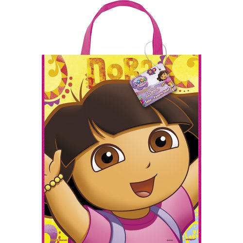 Large Plastic Dora the Explorer Goodie Bag, 13