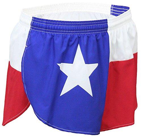 """BOA Men's 1"""" Elite Split Leg Texas Flag Running Short"""