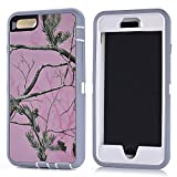 "MOONCASE iPhone 6S Plus Case, [Realtree Camo Series] 3 Layers Heavy Duty Defender Hybrid Soft TPU +PC Bumper Triple Shockproof Drop Resistance Protective Case Cover for Apple iPhone 6 Plus / 6S Plus 5.5"" -Pink Tree"