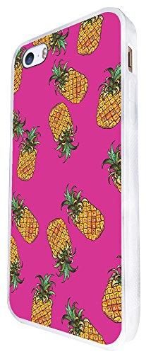 603 - Summer Fruit Pineapple Design iphone SE - 2016 Coque Fashion Trend Case Coque Protection Cover plastique et métal - Blanc
