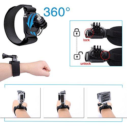 Luxebell Accessories Kit for AKASO EK5000 EK7000 4K WIFI Action Camera Gopro Hero 7 6 5/Session 5/Hero 4 3 2 1 DBPOWER Apeman Xiaomi Yi