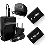 (2 Pack) Vivitar NP-FW50 Battery and Charger Kit for SONY Alpha A7, A7R, A7S, A5000, A6000, NEX-3, NEX-5, NEX-5R, NEX-5T, NEX-6, NEX-7, NEX-C3, NEX-F3