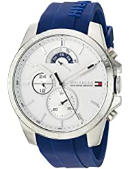 Tommy Hilfiger Mens COOL SPORT Quartz Stainless Steel and Silicone Casual Watch, Color:Blue (Model: 1791349)