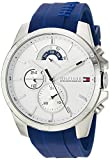 Image of Tommy Hilfiger Men's 'Cool Sport' Quartz Stainless Steel and Silicone Casual Watch, Color:Blue (Model: 1791349)