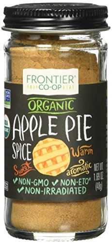 Frontier Natural Products Co-Op Organic Apple Pie Spice Salt-Free Blend 1.69 oz Jar (Organic Pie)