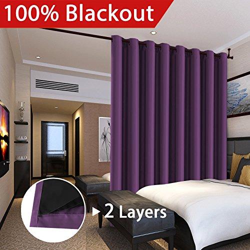 Cheap  Flamingo P Full Blackout Indigo Plum Patio Room Divider Curtains Curtains Faux..