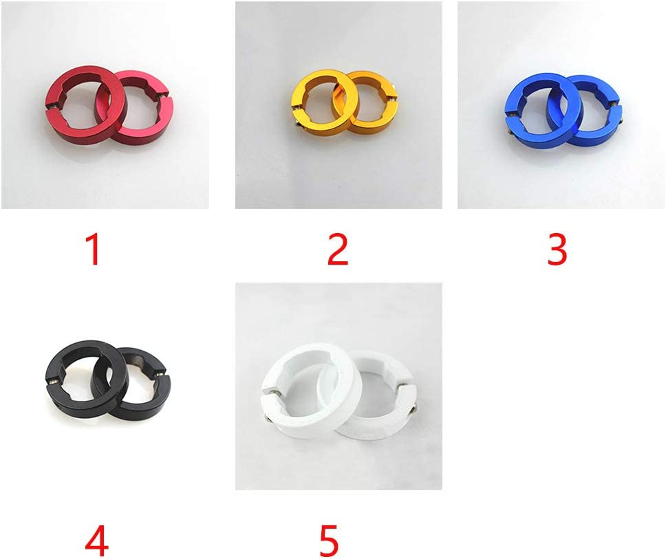 Bike Parts for Bicycle Grips 8mm Lock Rings Multi Colored Aluminum Alloy Stable 8mm Bike Grips Clamping Ring UXELY Lock Rings for Bicycle Handle Bars Grips